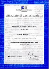 Sistema sicurezza   certificazione ohsas 18001 cv