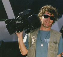 Alberto with tv camera cv
