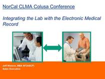 Lab emr integration ppt for colusa conference cv