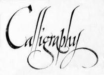 Calligraphy cv