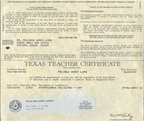 Texas state board cv
