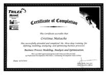 Certificate bpmao 2010 cv