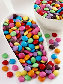 Smarties in scoop and small bowl cv