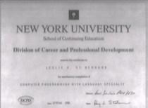 Computer programming certificate cv