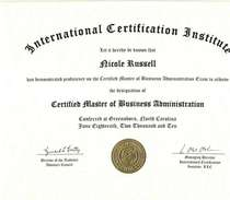Certified mba cv