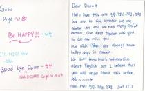 Korea letter cv