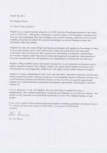 Lori s letter cv