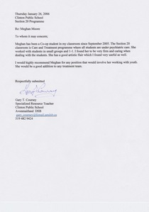 Gary s letter cv