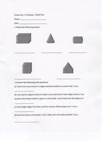 Math test cv