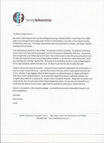 Pastor letter cv