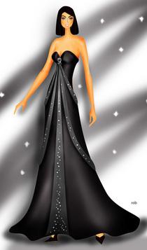 Black dress cv