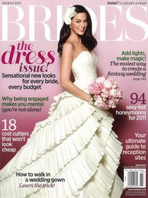 Brides march 2011 cover cv