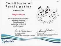 Choir certification cv