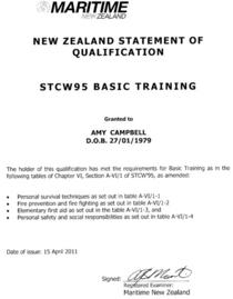 Stcw95 cv