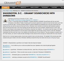 Grammy u soundchecks with shinedown cv