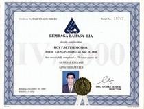 Lb lia certificate cv