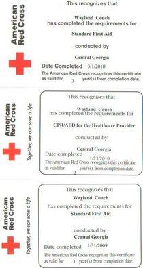 Certifications cv