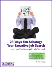 Executive branding job search ebook cv