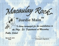 Macaulay rocks award 2011 cv