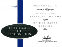 Certificate recognition cv