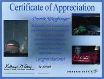 Certificate appreciation cv