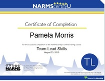Narms certifications cv