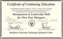 Rockhurst certificate cv