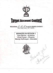 Target contest winner cv