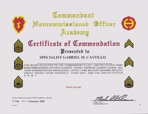 Commandant s list cv