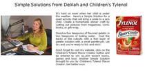 Delilah childrens tylenol cv