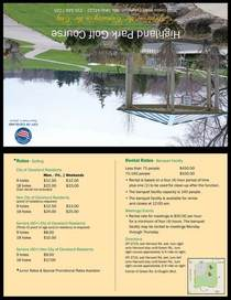 Golf concept page 1 cv