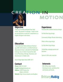 Design resume cv