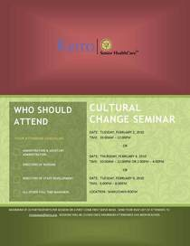 Cultural change seminar cv