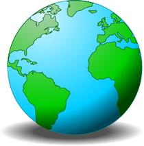 Globe green blue cv