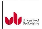 University of bedfordshire cv
