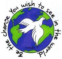 Gandhi be the change dove cv