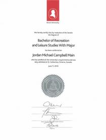 Rec degree cv