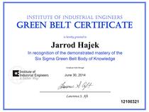 Six sigma green belt certification cv