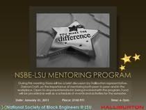 Nsbe lsu mentoring program cv