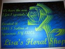 Floral shopp business card cv