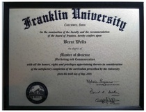 Franklin university degree cv