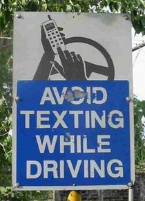 Avoid texting while driving cv
