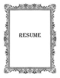 Resume icon good 3 cv