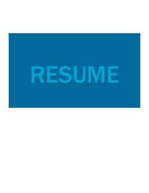 Resume 1 cv
