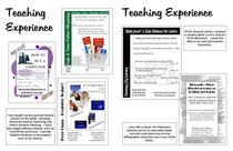 Portfolio   teaching experience cv