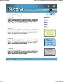 Proactive newsletter cv