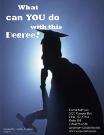 What can you do iwth this degree cover page cv