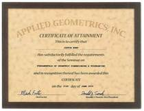 Agi certificate cv