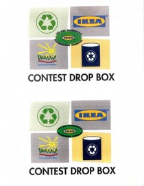 Ikea recycle signage cv