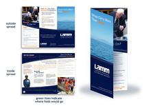 Brochure folded mockup cv